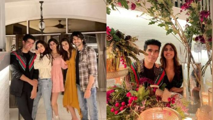 Inside Manish Malhotra's New Year dinner for Kriti Sanon, Jacqueline, Kartik Aaryan, Janhvi