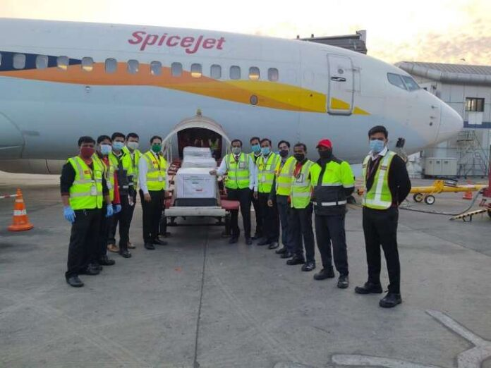 First flight carrying Covishield vaccine consignment lands