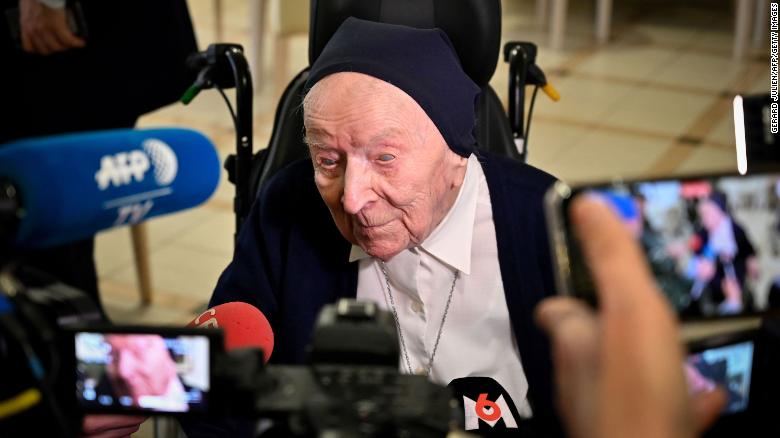 Europe's oldest person, a 116-year-old French nun, survives Covid-19
