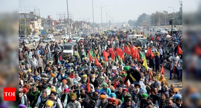Farmers' 'chakka' jam' protest draws response in Punjab, Haryana, Rajasthan; scattered demonstrations in other states | India News - Times of India