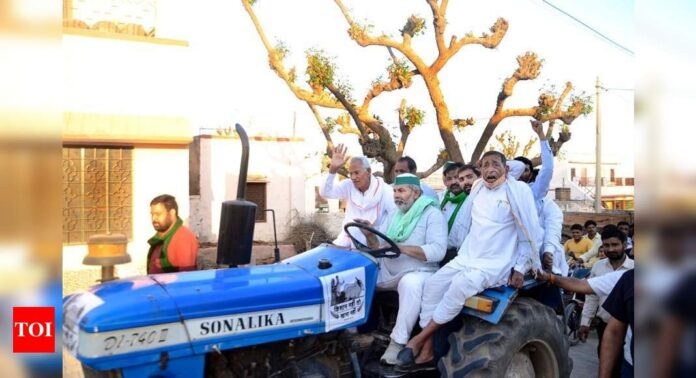 Farmers to campaign against BJP in 5 poll-bound states: Key developments | India News - Times of India