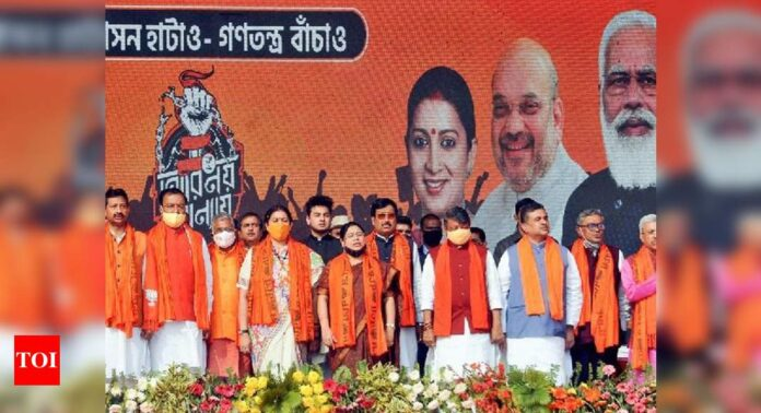 Rift between old-timers and new entrants cause of concern for Bengal BJP ahead of polls | India News - Times of India