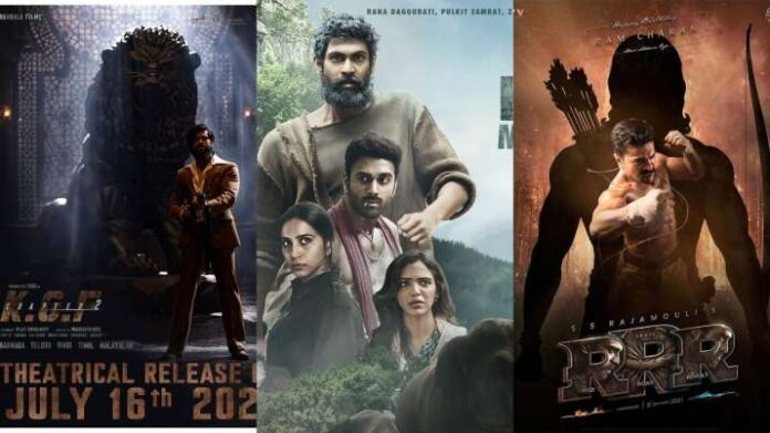 Posters of KGF Chapter 2, Haathi Mere Saathi and RRR