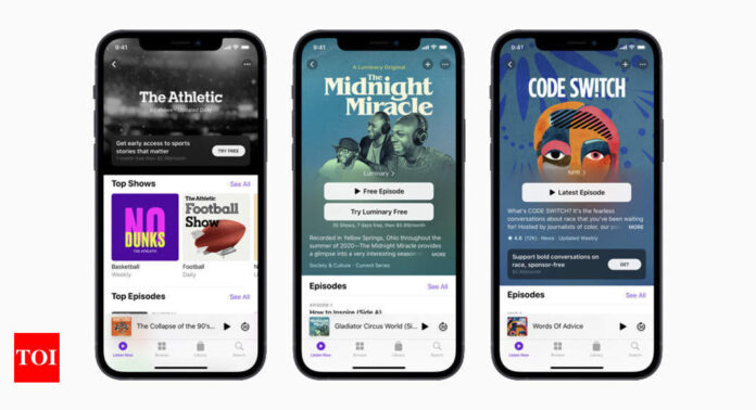 Apple's next big bet on Services is Podcasts - Times of India
