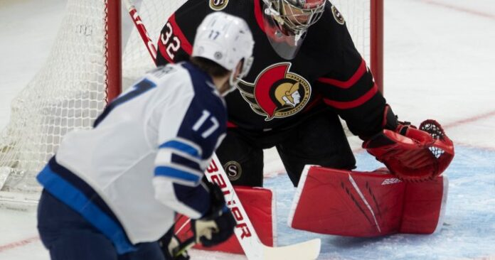Winnipeg Jets give up late goal to Sens, drop seventh straight game
