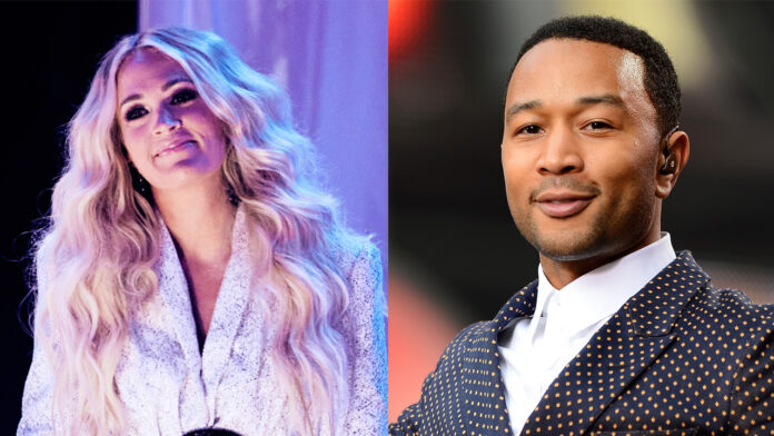 CMT Music Awards 2021 sees Carrie Underwood and John Legend take home top award, Chris Stapleton perform