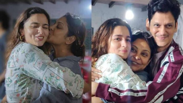 Darlings: Shefali Shah's wrap up celebration was all about hugs and kisses for Alia Bhatt