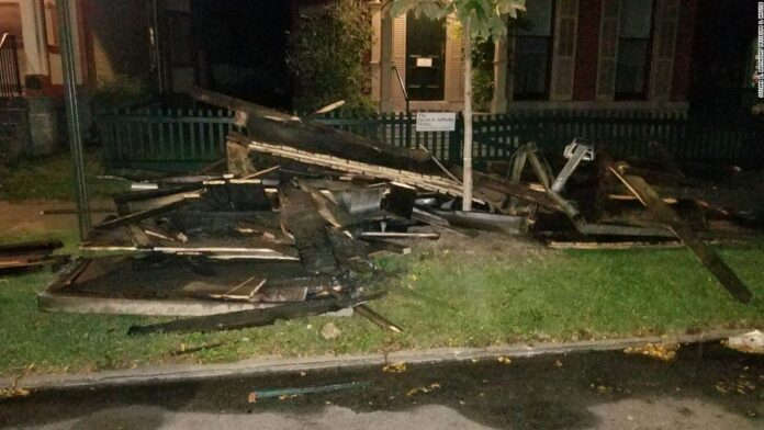 Fire officials are investigating a 'suspicious' blaze at the historic Susan B. Anthony House