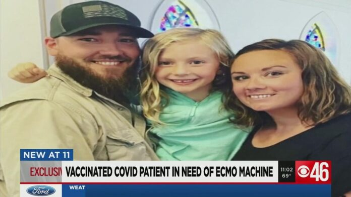 'He's that small percentage': Georgia man battling COVID in need of device that's in short supply