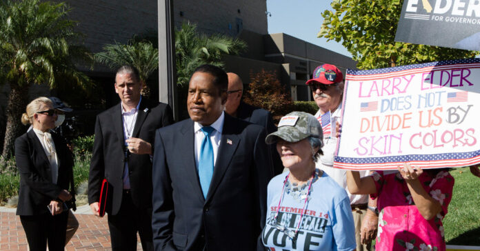 Larry Elder has put issues of race at the center of his campaign.