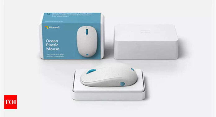 Microsoft reveals new mouse made from recycled ocean plastic - Times of India