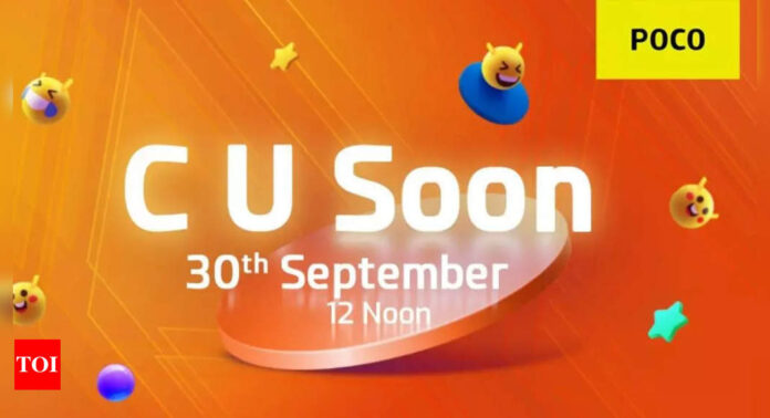 poco:  Poco C series smartphone to launch on September 30 - Times of India