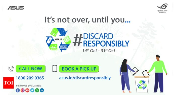 Asus announces #DiscardResposibily campaign for e-waste disposal - Times of India