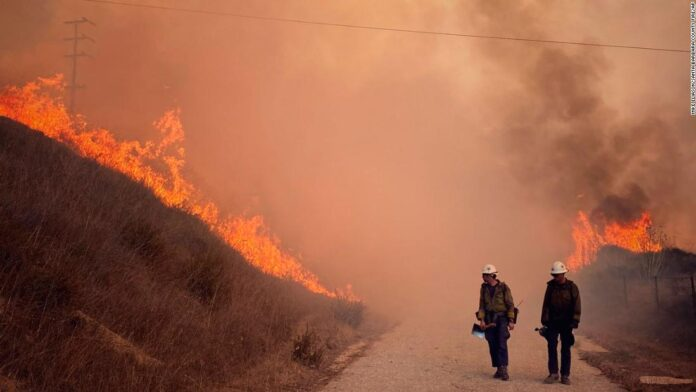 California's Alisal Fire has prompted evacuations, road and Amtrak closures. And the heavy winds are making it hard to tame