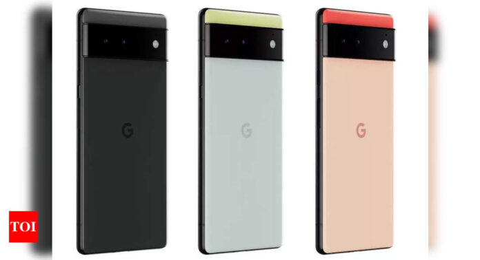 Google Pixel 6 images leaked ahead of launch on October 19 - Times of India